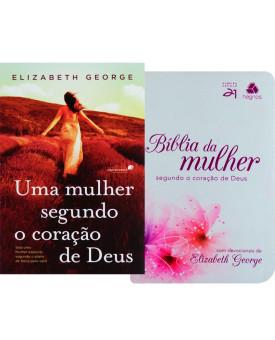 Kit Mulher de Fé   Mulher Segundo Coração de Deus + Bíblia da Mulher de Fé Lírios