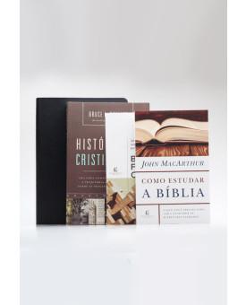 Kit Vida Cristã | A Bíblia Estudo Anotada Expandida + Livros