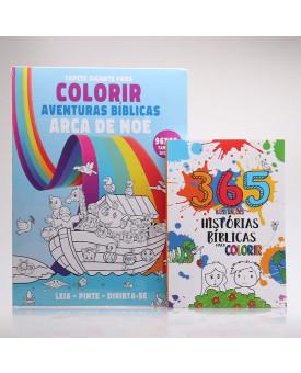 Kit 2 Livros | Tapete para Colorir + 365 Ilustrações | Histórias Bíblicas