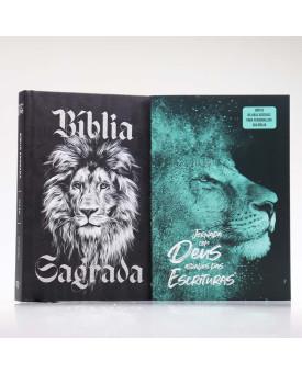 Kit Bíblia Minha Jornada com Deus NVI Preto e Branco + Guia Bíblico | Guia Meus Passos