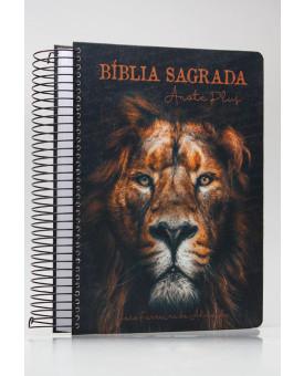 Bíblia Sagrada Anote Plus | RC | Letra Grande | Capa Dura | Espiral | Leão de Judá