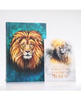 Kit Bíblia ACF Leão Aslam + Devocional Andrew Murray | Crescendo na Graça