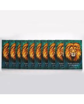 Kit 10 Harpas Avivadas e Corinhos   Brochura   Letra Hipergigante   Leão Aslam