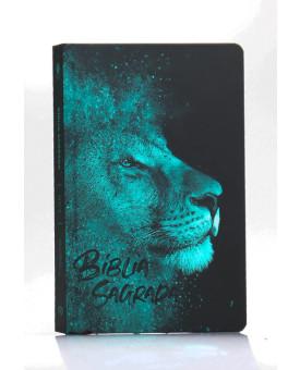 Bíblia Sagrada | NVT | Letra Normal | Capa Dura/Soft Touch | Leão Azul