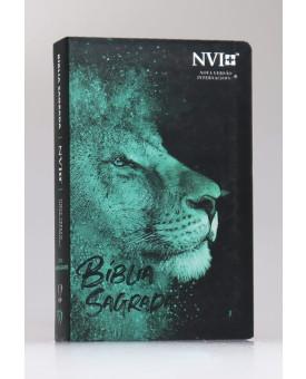 Bíblia Sagrada | NVI | Letra Hipergigante | Semi-Flexível | Leão Azul