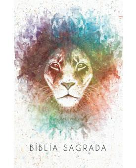 Bíblia Sagrada | King James Atualizada | Letra Grande | Leão | Aquarela | Brasil