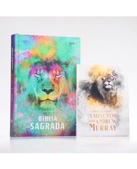 Kit Bíblia ACF Leão Color + Devocional Andrew Murray | Crescendo na Graça