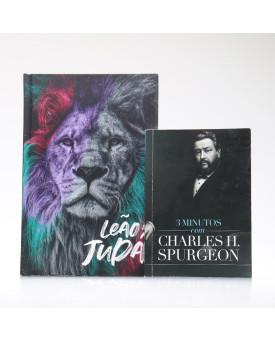Kit Bíblia ACF Capa Dura Leão de Judá + Devocional 3 Minutos com Charles H. Spurgeon | Vivendo com Propósito