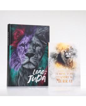 Kit Bíblia ACF Leão de Judá + Devocional Andrew Murray | Crescendo na Graça