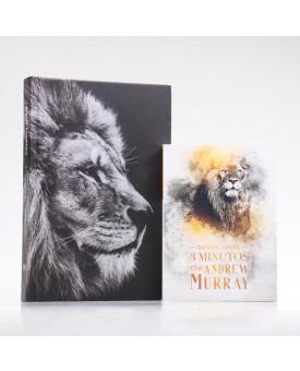 Kit Bíblia ACF Leão Hebraico + Devocional Andrew Murray | Crescendo na Graça