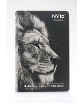 Bíblia Sagrada   NVI   Harpa Avivada e Corinhos   Letra Hipergigante   Semi-Flexível   Leão Hebraico