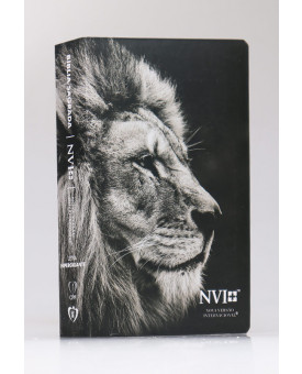 Bíblia Sagrada | NVI | Letra Hipergigante | Semi-Flexível | Leão Hebraico