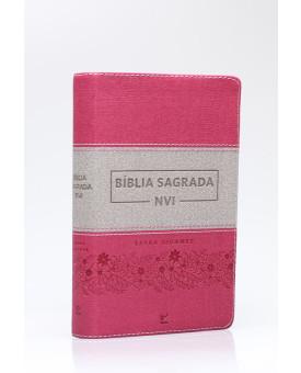 Bíblia Sagrada | NVI | Letra Gigante | Luxo | Rosa e Cinza