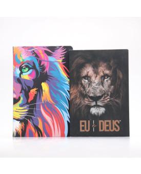 Kit Bíblia NVT Lion Color + Eu e Deus Eu Sou | Momento Diário