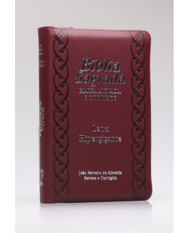 Bíblia Sagrada | RC | Harpa Avivada e Corinhos | Letra Hipergigante | Capa Pu | Bordô | Índice | Zíper
