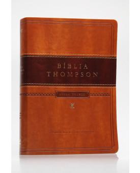 Bíblia de Estudo Thompson | AEC | Letra Grande | Luxo | Marrom | Índice