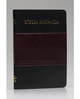 Bíblia Sagrada | NAA | Letra Normal | Capa Sintética | Vinho/Preto