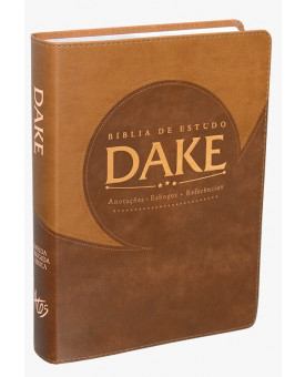 Bíblia De Estudo Dake | RC | Marrom | Luxo