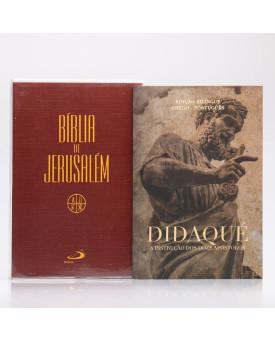 Kit Bíblia de Jerusalém Letra Normal Marrom + Didaqué | Vivenciando a Fé