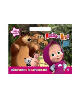 Masha e o Urso | Brincando de Aprender | 100 Adesivos | Ciranda Cultural
