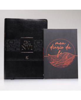 Kit Bíblia de Estudo NVI Preta + Meu Diário de Fé | Homens de Honra