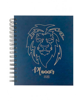 Planner 2020 | Leão | Capa Dura | Masculina | Azul