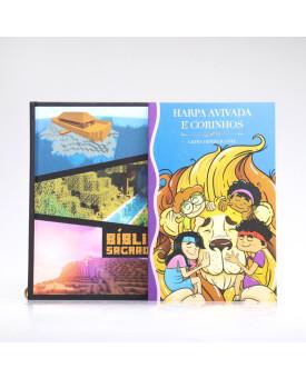 Kit Bíblia Minha Jornada com Deus NVI Minecraft + Harpa Avivada e Corinhos | Louvando à Todo Momento