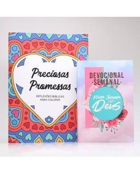 Kit Devocional Semanal + Preciosas Promessas | Devocional Criativo | Colagem