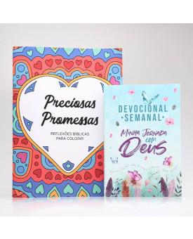 Kit Devocional Semanal + Preciosas Promessas   Devocional Criativo   Jardim Secreto