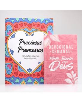 Kit Devocional Semanal + Preciosas Promessas   Devocional Criativo   Pétalas