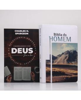 Kit Bíblia do Homem + Devocional Spurgeon Café | Homem Sábio