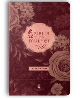 Bíblia de Estudo da Mulher de Fé | NVI | Letra Grande | Luxo | Vinho