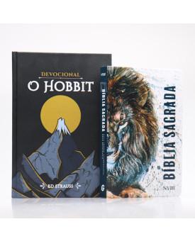 Kit Bíblia NVI Letra Grande Cordeiro de Deus + Devocional O Hobbit | Aventuras Diárias