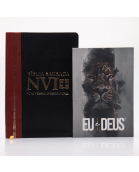 Kit Bíblia NVI Letra Grande Duotone Slim + Devocional Eu e Deus Rei dos Reis | Estudo Diário
