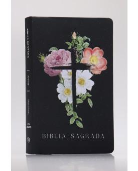 Bíblia Sagrada | NVI | Letra Gigante | Soft Touch | Flores Cruz