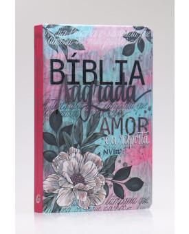 Bíblia Sagrada | NVI | Letra Grande | Capa Dura | Flor Artística | Especial