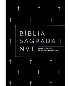 Bíblia Sagrada   NVT   Cruz   Preta   Capa Dura