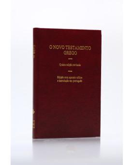 O Novo Testamento Grego | 5º  Edição Revisada | Capa dura | Vinho