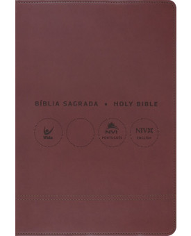 Bíblia Sagrada Holy Bible | Português e Inglês | NVI | Letra Normal | Luxo | Vermelha