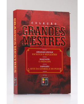 Box 3 Livros | Grandes Mestres | Pé da Letra