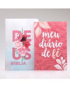 Kit Meu Diário de Fé | Bíblia 365 + Pétalas
