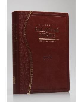 Bíblia de Estudo Palavra Chave   RC   Letra Grande   Luxo   Marrom