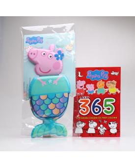 Kit 365 Atividades e Desenhos Para Colorir + Livro de Banho | Peppa Pig