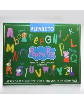 Prancheta Para Colorir Supersérie   Peppa Pig - Alfabeto