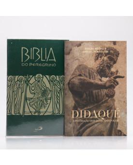 Kit Bíblia do Peregrino Letra Normal Verde + Didaqué | Vivenciando a Fé