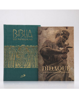 Kit Bíblia do Peregrino Letra Normal Capa Dura Verde + Didaqué | Vivenciando a Fé