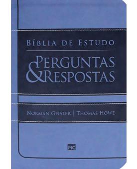Bíblia De Estudo   RA   Letra Normal   Luxo   Azul