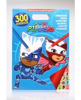 Prancheta Para Colorir Com Adesivos   Pj Masks   Mais de 300 Adesivos