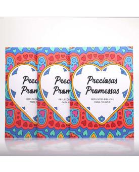 Kit 3 Livros | Preciosas Promessas | Livro Para Colorir