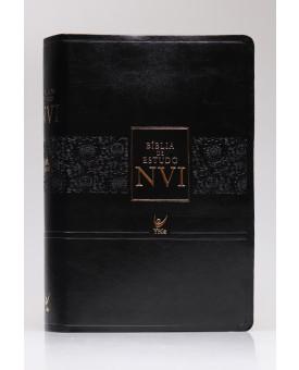 Bíblia de Estudo | NVI | Letra Normal | Luxo | Preta